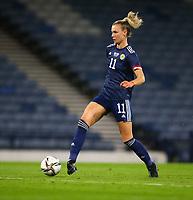 21st September 2021; Hampden Park, Glasgow, Scotland: FIFA Womens World Cup qualifying, Scotland versus Faroe Islands; Jenna Clark of Scotland makes it 6-1 in the 80th minute