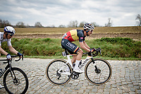 Belgian National Champion Dries De Bondt (BEL/Alpecin-Fenix) up the Stationsberg<br /> <br /> 64th E3 Classic 2021 (1.UWT)<br /> 1 day race from Harelbeke to Harelbeke (BEL/204km)<br /> <br /> ©kramon