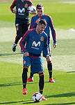 Spain's Vitolo and Saul Niguez during training session. November 8,2017.(ALTERPHOTOS/Acero)