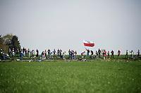 polish flag over race leaders<br /> <br /> 50th Amstel Gold Race 2015