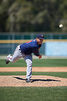 Minnesota Twins Juan Gamez (64) during a minor league Spring Training game against the Baltimore Orioles on March 17, 2017 at the Buck O'Neil Baseball Complex in Sarasota, Florida.  (Mike Janes/Four Seam Images)