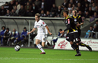Pictured: Mark Gower of Swansea City in action <br /> Re: Coca Cola Championship, Swansea City Football Club v Queens Park Rangers at the Liberty Stadium, Swansea, south Wales 21st October 2008.