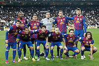 FC Barcelona's team photo during spanish King's Cup on January 18th 2012...Photo: Alex Cid-Fuentes / ALFAQUI .Real Madrid Vs Barcellona.ITALY ONLY