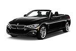 2016 BMW 4 Series 428I 2 Door Convertible Angular Front stock photos of front three quarter view