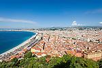 France, Provence-Alpes-Côte d'Azur, Nice: old town view | Frankreich, Provence-Alpes-Côte d'Azur, Nizza: Blick ueber die Altstadt