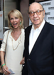 """Neil Simon with wife Elaine Joyce pictured at the Opening Night Arrivals of """"Harvey"""" at Studio 54 New York City June 14, 2012 © Walter McBride / WM Photography ."""