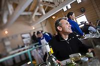 Europe/France/73/Savoie/Val d'Isère: Luc Reversade  restaurateur dans son restaurant d'altitude: La Fruitière