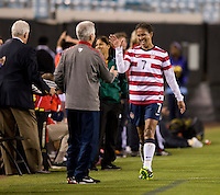Tom Sermanni, Shannon Boxx.  The USWNT defeated Scotland, 4-1, during a friendly at EverBank Field in Jacksonville, Florida.