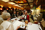 People eating at the bar at Musso & Frank Restaurant, Hollywood, CA