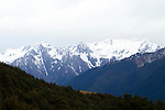 Snow-covered mountains, South Island, New Zealand