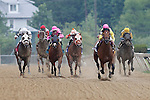 May 18, 2013, Sage Valley (#10), John Velazquez up, wins the gr.III Maryland Sprint Handicap at Pimlico Race Course in Baltimore, MD.   (Joan Fairman Kanes/Eclipse Sportswire)