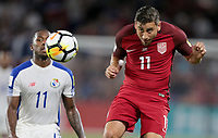 Orlando, FL - Friday Oct. 06, 2017: Alejandro Bedoya during a 2018 FIFA World Cup Qualifier between the men's national teams of the United States (USA) and Panama (PAN) at Orlando City Stadium.