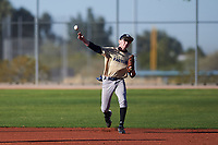 Jacob Dressler (47), from San Jose, California, while playing for the Brewers during the Under Armour Baseball Factory Recruiting Classic at Red Mountain Baseball Complex on December 29, 2017 in Mesa, Arizona. (Zachary Lucy/Four Seam Images)