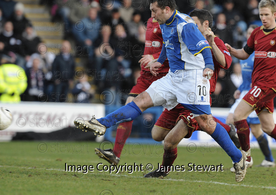 08/03/2008    Copyright Pic: James Stewart.File Name : sct_jspa09_qots_v_dundee.STEPHEN DOBBIE SCORES THE FIRST.James Stewart Photo Agency 19 Carronlea Drive, Falkirk. FK2 8DN      Vat Reg No. 607 6932 25.Studio      : +44 (0)1324 611191 .Mobile      : +44 (0)7721 416997.E-mail  :  jim@jspa.co.uk.If you require further information then contact Jim Stewart on any of the numbers above........
