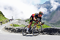 15th July 2021; Luz Ardiden, Hautes-Pyrénées department, France;  VAN AERT Wout (BEL) of JUMBO-VISMA during stage 18 of the 108th edition of the 2021 Tour de France cycling race, a stage of 129,7 kms between Pau and Luz Ardiden.
