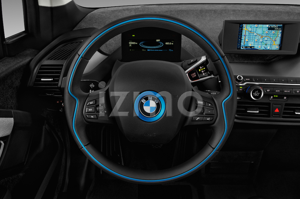 Car pictures of steering wheel view of a 2017 BMW i3 Range-Extender 5 Door Hatchback Steering Wheel