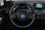 Car pictures of steering wheel view of a 2017 BMW i3 Range-Extender 5 Door Hatchback Steering Wheel