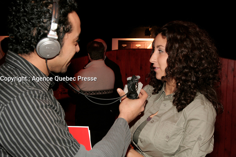 February 16 2006, Montreal (Qc) CANADA<br /> Linda Thalie, chanteuse / singer<br /> Photo : Pierre Roussel / Images Distribution