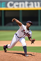 FCL Braves pitcher Ronaldo Alesandro (54) during a game against the FCL Orioles Orange on July 22, 2021 at the CoolToday Park in North Port, Florida.  (Mike Janes/Four Seam Images)