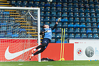 Goalkeeper Scott Brown of Wycombe Wanderers during the Open Training Session in front of supporters during the Wycombe Wanderers 2016/17 Team & Individual Squad Photos at Adams Park, High Wycombe, England on 1 August 2016. Photo by Jeremy Nako.