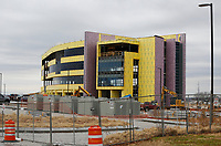 The construction of an approximately 80,000 square foot medical office building is visible Wednesday, January 6, 2021, at 2575 S. Gene George Boulevard in Springdale. The building is located just north of Arkansas Children's Northwest. Check out nwaonline.com/210111Daily/ and nwadg.com/photos for a photo gallery.<br /> (NWA Democrat-Gazette/David Gottschalk)
