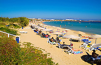 Beach called Golden Beach, Island of Paros, Greece