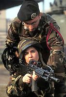 - Italian army, training of the women at 6th Bersaglieri regiment of Bologna....- esercito italiano, addestramento delle donne presso il 6° reggimento bersaglieri di Bologna