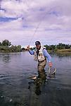 Fall season fly fishing on the Bighorn River, Montana