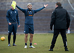 St Johnstone Training…27.03.18<br />Richie Foster appeals to Manager Tommy Wright during training this morning at McDiarmid Park ahead of tomorrow's game against Hamilton Accies<br />Picture by Graeme Hart.<br />Copyright Perthshire Picture Agency<br />Tel: 01738 623350  Mobile: 07990 594431