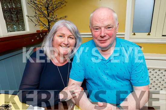 Mags Knightley (Tralee) and John O'Sullivan (Tralee) enjoying the evening out in the Brogue Inn on Saturday