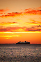 Cruise ship at sea, Atlantic Ocean
