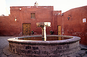 Arequipa, Peru. Fountain; Santa Catalina Monastery.