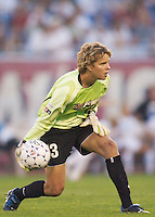 Carly Smolak was substituted for Saskia Webber in the Power goal to start the second half. Smolak gave up a goal in the 51 minute. The Atlanta Beat and the NY Power played to a 1-1 tie on 7/26/03 at Mitchel Athletic Complex, Uniondale, NY.