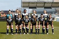 team of Eendracht Aalst with Goalkeeper Silke Baccarne (1) of Eendracht Aalst    Loes Van Mullem (33) of Eendracht Aalst   Henriette Awete (19) of Eendracht Aalst   +Valentine Hannecart 8) of Eendrcht Aalst   Tiffanie Vanderdonckt (5) of Eendracht Aalst   Niekie Pellens (41) of Eendracht Aalst   Justine Blave (22) of Eendracht Aalst   Tiana Andries (11) of Eendracht Aalst  Annelies Van Loock (9)  of Eendracht Aalst      Chloe Van Mingeroet (17) of Eendracht Aalst   pictured during a female soccer game between Eendracht Aalst and Sporting Charleroi on the third matchday of play off 2 of the 2020 - 2021 season of Belgian Scooore Womens Super League , Saturday 24 th of April 2021  in Aalst , Belgium . PHOTO SPORTPIX.BE | SPP | KRISTOF DE MOOR