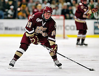 18 October 2009: Boston College Eagle forward Pat Mullane, a Freshman from Wallingford, CT, in action during the first period against the University of Vermont Catamounts at Gutterson Fieldhouse in Burlington, Vermont. The Catamounts defeated the visiting Eagles 4-1. Mandatory Credit: Ed Wolfstein Photo