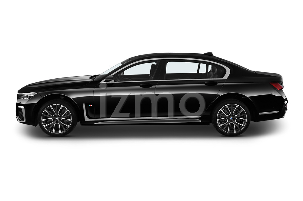 Car Driver side profile view of a 2020 BMW 7-Series M-Sport 4 Door Sedan Side View