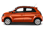 Car Driver side profile view of a 2021 Renault Twingo-Electric Vibes 5 Door Hatchback Side View