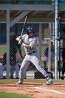 GCL Tigers West Keyder Aristigueta (9) bats during a game against the GCL Tigers East on July 20, 2017 at TigerTown in Lakeland, Florida.  GCL Tigers West defeated GCL Tigers East 6-5.  (Mike Janes/Four Seam Images)