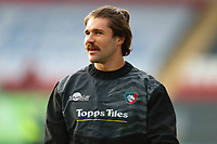 6th February 2021; Mattoli Woods Welford Road Stadium, Leicester, Midlands, England; Premiership Rugby, Leicester Tigers versus Worcester Warriors; Kobus van Wyk of Leicester Tigers during the pre-match warm-up