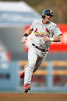 Adam Kennedy of the St. Louis Cardinals during a game from the 2007 season at Dodger Stadium in Los Angeles, California. (Larry Goren/Four Seam Images)
