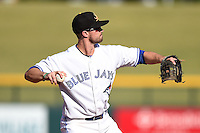 Mesa Solar Sox outfielder/infielder Jon Berti (4) during an Arizona Fall League game against the Surprise Saguaros on October 17, 2014 at Cubs Park in Mesa, Arizona.  Mesa defeated Mesa 5-3.  (Mike Janes/Four Seam Images)