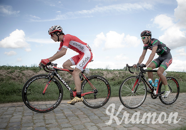 Victor Lafay (FRA/Cofiidis) riding the cobbles<br /> <br /> 1st Great War Remembrance Race 2018 (UCI Europe Tour Cat. 1.1) <br /> Nieuwpoort > Ieper (BE) 192.7 km