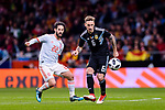 Isco Alarcon of Spain (L) fights for the ball with Lucas Biglia of Argentina (R) during the International Friendly 2018 match between Spain and Argentina at Wanda Metropolitano Stadium on 27 March 2018 in Madrid, Spain. Photo by Diego Souto / Power Sport Images