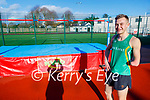 Jordan Lee training on the high jump at the Killarney Valley Athletic Club's facilities on Saturday.