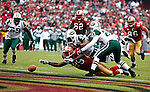 American Football. San Francisco 49ers vs. New York Jets. Sunday, December 7, 2008, 1305hrs, at Candlestick Park, San Francisco, USA.