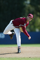 Will Quaglieri of the Loyola Marymount Lions pitches during a 2004 season game at Page Stadium, in Los Angeles, California. (Larry Goren/Four Seam Images)