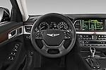 Car pictures of steering wheel view of a 2015 Hyundai Genesis 3.8 4 Door Sedan Steering Wheel