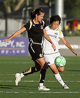 23 July 2009: Brandi Chastain of the FC Gold Pride in action during the game against LA Sol at Buck Shaw Stadium in Santa Clara, California.   FC Gold Pride tied Los Angeles Sol, 0-0.