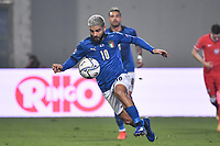 Lorenzo Insigne of Italy during the Uefa Nation League Group Stage A1 football match between Italy and Poland at Citta del Tricolore Stadium in Reggio Emilia (Italy), November, 15, 2020. Photo Andrea Staccioli / Insidefoto