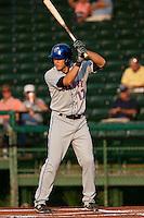 Matt Den Dekker #17 of the St. Lucie Mets during a game against the Daytona Cubs at Jackie Robinson Ballpark on May 23, 2011 in Daytona Beach, Florida. (Scott Jontes / Four Seam Images)